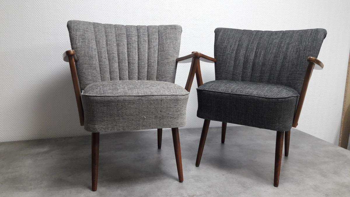Réfection d'une paire de fauteuil cocktail à Toulouse